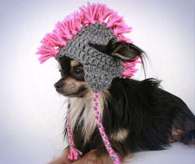 Mohawk Dog Hat